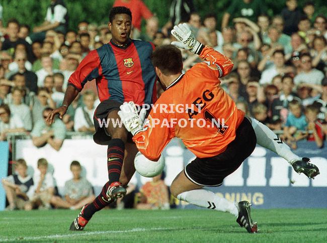 Deventer,24-07-99  Foto:Koos Groenewold (APA)<br />Patrick Kluivert speelde 1 helft mee en scoorde daarin maar liefst 4 keer.