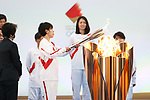 Azusa Iwashimizu participates in <br /> The Grand Start Ceremony for the Tokyo 2020 Olympic Torch Relay at Fukushima National Training Center J-Village on March 25, 2021, in Fukushima Prefecture, Japan.<br /> The Torch Relay will last 121 days and visit all of Japan's 47 prefectures. (Photo by Naoki Morita/AFLO SPORT)