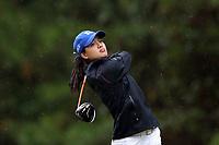 CHAPEL HILL, NC - OCTOBER 13: Jaravee Boonchant of Duke University tees off at UNC Finley Golf Course on October 13, 2019 in Chapel Hill, North Carolina.