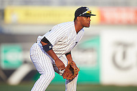 Tampa Yankees shortstop Abiatal Avelino (22) during a game against the Bradenton Marauders on April 11, 2016 at George M. Steinbrenner Field in Tampa, Florida.  Tampa defeated Bradenton 5-2.  (Mike Janes/Four Seam Images)