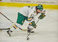 4 January 2014:  University of Vermont Catamount forward Danielle Rancourt, a Senior from Sudbury, Ontario, in action against the Syracuse University Orange, in non-conference play at Gutterson Fieldhouse in Burlington, Vermont. The Orange defeated the UVM Lady Cats 4-3 in their first ever NCAA meeting. Mandatory Credit: Ed Wolfstein Photo *** RAW (NEF) Image File Available ***