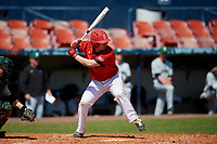 Bradley Braves Nic Anderson (22) bats during a game against the Dartmouth Big Green on March 21, 2019 at Chain of Lakes Stadium in Winter Haven, Florida.  Bradley defeated Dartmouth 6-3.  (Mike Janes/Four Seam Images)