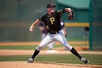 Pittsburgh Pirates Jonathan Brubaker (88) during a minor league Spring Training game against the New York Yankees on March 26, 2016 at Pirate City in Bradenton, Florida.  (Mike Janes/Four Seam Images)