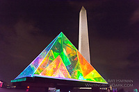 "Art at the Washington Monument by Art Harman. At ""Catharsis on the Mall, a mini-Burning Man."""