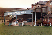 General view of Ware FC, Buryfield, Park Road, Ware, Hertfordshire, pictured on 8th September 1987