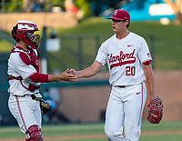 STANFORD, CA - JUNE 5: Kody Huff, Brendan Beck during a game between UC Irvine and Stanford Baseball at Sunken Diamond on June 5, 2021 in Stanford, California.