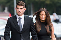 2016 10 04 Ched Evans rape trial at Cardiff Crown Court, Wales, UK