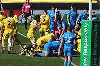 2nd May 2021; Stade Marcel-Deflandre, La Rochelle, France. European Champions Cup Rugby La Rochelle versus Leinster Semi-Final;  Victor VITO Stade Rochelais drives to the line to score his try