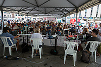 """Genoa (Genova, Liguria), Italy. 19th, 20th, 21st July 2021. Twenty years after the dramatic and terrifying events related to the 2001 Genoa's G8 meeting, according to Amnesty International: """"the most serious suspension of democratic rights in a Western country since the Second World War"""" (1.) and as stated on the 2001 """"Report on the situation of fundamental rights in the EU"""" the European Parliament's """"deplores the suspensions of fundamental rights that took place during public demos, and in particular at the G8 meeting in Genoa, such as freedom of expression, freedom of movement, the right to physical integrity"""" (2.). As a reminder, the City of Genoa is State Gold Medal (Medaglia D'Oro) for its Antifascist Resistance in World War II.<br /> <br /> In these three days, throughout a series of events, Genoa and its People, survivors and witnesses, experts and activists, remembered what happened 20 years ago, discussed the present situation of a world dominated by """"casino capitalism"""", predatory neo-liberalism, wars, rightless globalization, environmental and ecosystem degradation, doped consumerism, sources' depredation, fake news, internet deregulated jungle, the reality of climate change and pandemics, and what a different future and society could be.<br /> <br /> FOR MORE INFO READ THE ARTICLE AT THE BEGINNING OF THIS STORY.<br /> <br /> Footnotes, Links, Sources:<br /> 1. http://bit.do/fRvdg<br /> 2. http://bit.do/fRvdi<br /> 3. http://bit.do/fRvdj<br /> 4. http://bit.do/fRvdn<br /> 5. http://bit.do/fRvdo<br /> 6. 12.10.18 - Sulla Mia Pelle: Stefano Cucchi's Film Screening At CSOA La Strada http://bit.do/fRvdr<br /> 7. http://bit.do/fRvdt & http://bit.do/fRvdu<br /> 8. http://bit.do/fRvdv & http://bit.do/fRvdw & http://bit.do/fRvdx<br /> 9. http://bit.do/fRvdz<br /> 10. http://bit.do/fRvdA<br /> 11. http://bit.do/fRvdB<br /> http://www.veritagiustizia.it/docs/G8_2021_prog_ITA.pdf http://www.veritagiustizia.it/documenti.php & http://www.veritagiustizia.it/doc_eng/<br """