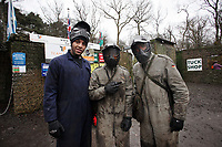 Pictured L-R: Kemy Agustien, Nathan Dyer and Scott Sinclair. Tuesday 25 January 2011<br /> Re: Swansea City FC footballers and staff have spend a morning at Teamforce Paintball in Llangyfelach near Swansea south Wales.