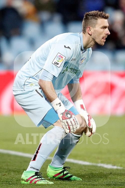 Getafe's Vicente Guaita during La Liga match. February 14,2016. (ALTERPHOTOS/Acero)