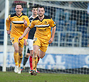 Dumbarton's Garry Fleming celebrates after he scores their second goal.