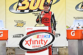 NASCAR XFINITY Series<br /> Kansas Lottery 300<br /> Kansas Speedway, Kansas City, KS USA<br /> Saturday 21 October 2017<br /> Christopher Bell, JBL Toyota Camry, Celebrates in Victory Lane.<br /> World Copyright: John K Harrelson<br /> LAT Images