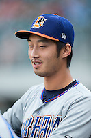 Hak-Ju Lee (3) of the Durham Bulls prior to the game against the Charlotte Knights at BB&T BallPark on July 22, 2015 in Charlotte, North Carolina.  The Knights defeated the Bulls 6-4.  (Brian Westerholt/Four Seam Images)