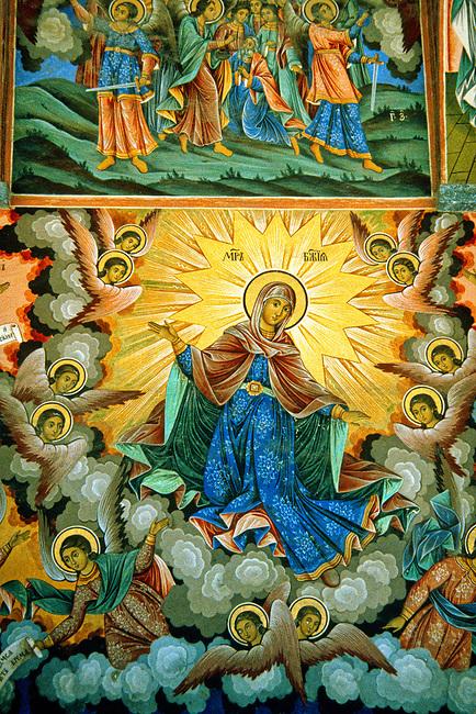 Fresco Detail, Rila Monastery<br /> Mother of God