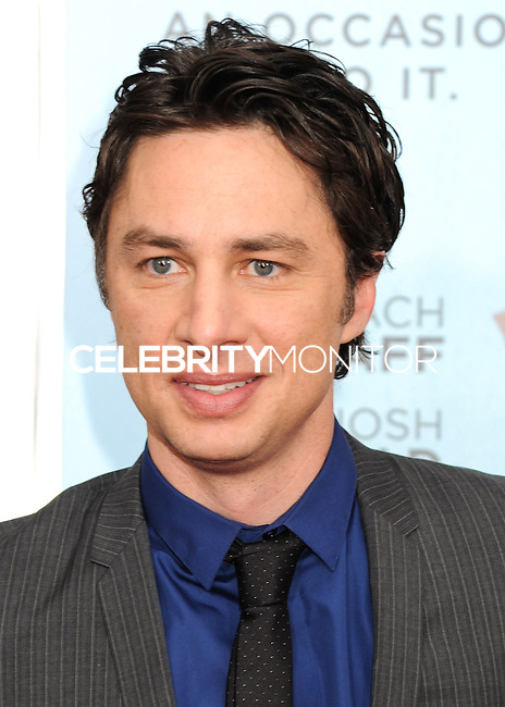 NEW YORK CITY, NY, USA - JULY 14: Zach Braff at the New York Screening Of Focus Features' 'Wish I Was Here' held at the AMC Lincoln Square Theater on July 14, 2014 in New York City, New York, United States. (Photo by Celebrity Monitor)