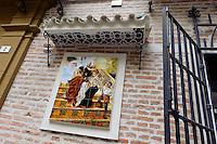 Haus der Bruderschaft Cofradia de la Esperanza, Semana Santa (Karwoche) in Malaga, Andalusien, Spanien