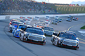 NASCAR Camping World Truck Series<br /> M&M's 200 presented by Casey's General Store<br /> Iowa Speedway, Newton, IA USA<br /> Friday 23 June 2017<br /> Noah Gragson, Switch Toyota Tundra and Christopher Bell, Toyota Toyota Tundra green flag start<br /> World Copyright: Russell LaBounty<br /> LAT Images