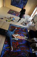 Claudia Salaris, storica italiana, studiosa di storia delle avanguardie e del futurismo..Claudia Salaris, Italian historian, scholar of history of avant-garde and futurism..Pablo Echaurren, Pablo Echaurren, pittore, autore di fumetti e scrittore italiano..Pablo Echaurren, Italian painter, author and comic writer....