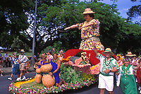 A float in the annual Aloha Festivals Parade in Honolulu.