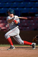 Chris Marrero #35 of the Potomac Nationals follows through on his swing versus the Winston-Salem Dash at Wake Forest Baseball Park May 10, 2009 in Winston-Salem, North Carolina. (Photo by Brian Westerholt / Four Seam Images)