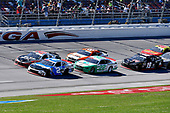 #2: Tyler Reddick, Richard Childress Racing, Chevrolet Camaro Roland, #20: Christopher Bell, Joe Gibbs Racing, Toyota Supra Rheem-Johns Mansville, and #22: Austin Cindric, Team Penske, Ford Mustang MoneyLion