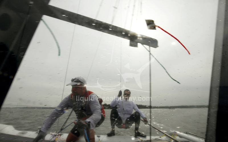 Training before the International C Class Catamaran Championships.