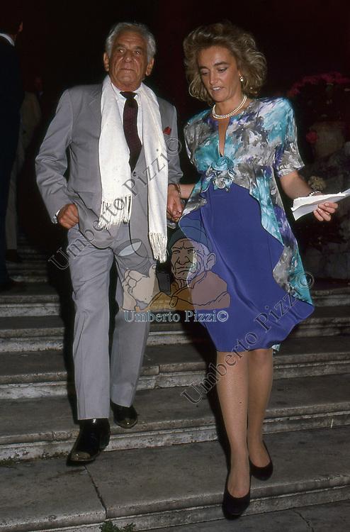 LEONARD BERNSTEIN<br /> PREMIO CONDOTTI - SCALINATA TRINITA' DEI MONTI ROMA 1987
