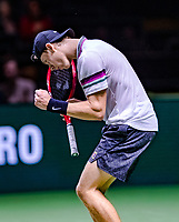 Rotterdam, The Netherlands, 12 Februari 2019, ABNAMRO World Tennis Tournament, Ahoy, first round singles: Dennis Shapovalov (CAN),<br /> Photo: www.tennisimages.com/Henk Koster