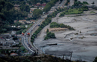 peloton down in the valley<br /> <br /> 7th La Course by Tour de France 2020 <br /> 1 day race from Nice to Nice (96km)<br /> <br /> ©kramon