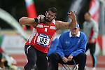 IPC European Athletics Championship 2014<br /> Kim Gonzalez Lopez (ESP)<br /> Men's shot put F12<br /> Swansea University<br /> <br /> 21.08.14<br /> ©Steve Pope-SPORTINGWALES