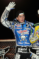 Darcy Ward - Lee Richardson Memorial at the Arena Essex Raceway, Pufleet - 28/09/12 - MANDATORY CREDIT: Rob Newell/TGSPHOTO - Self billing applies where appropriate - 0845 094 6026 - contact@tgsphoto.co.uk - NO UNPAID USE.