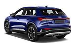 Car pictures of rear three quarter view of 2022 Audi Q4-e-tron EV-S-Line 5 Door SUV Angular Rear