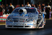 Apr. 29, 2011; Baytown, TX, USA: NHRA pro stock driver Allen Johnson during qualifying for the Spring Nationals at Royal Purple Raceway. Mandatory Credit: Mark J. Rebilas-