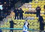 03.03.2021 Livingston v Rangers: Steven Gerrard as Alfredo Morelos scores