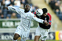 03/02/2007       Copyright Pic: James Stewart.File Name : sct_jspa27_falkirk_v_st_johnstone.JASON SCOTLAND AND JACK ROSS CHALLENGE...James Stewart Photo Agency 19 Carronlea Drive, Falkirk. FK2 8DN      Vat Reg No. 607 6932 25.Office     : +44 (0)1324 570906     .Mobile   : +44 (0)7721 416997.Fax         : +44 (0)1324 570906.E-mail  :  jim@jspa.co.uk.If you require further information then contact Jim Stewart on any of the numbers above.........