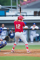 Cole Lankford (12) of the Johnson City Cardinals at bat against the Burlington Royals at Burlington Athletic Park on July 14, 2014 in Burlington, North Carolina.  The Cardinals defeated the Royals 9-4.  (Brian Westerholt/Four Seam Images)