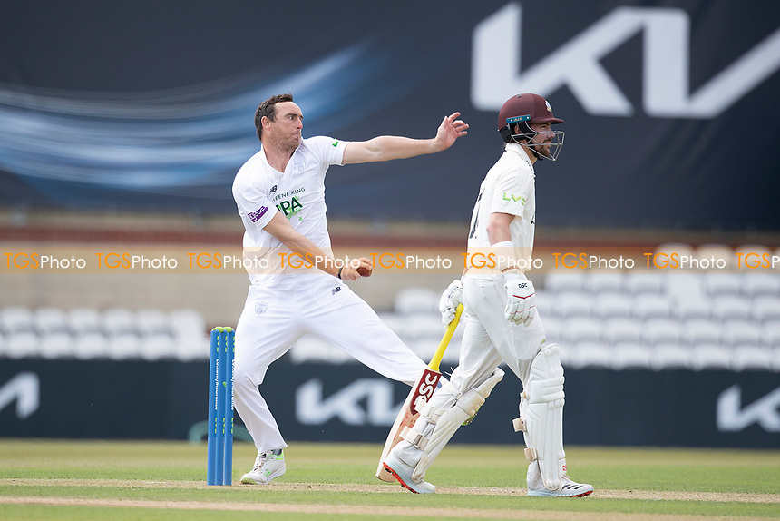 Kyle Abbott, Hampshire CCC in action during Surrey CCC vs Hampshire CCC, LV Insurance County Championship Group 2 Cricket at the Kia Oval on 30th April 2021