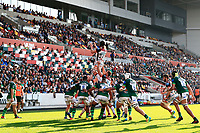 9th October 2021; Brentford Community Stadium, Brentford, London; Gallagher Premiership Rugby, London Irish versus Leicester Tigers; Harry Wells of Leicester Tigers catches the ball from the lineout