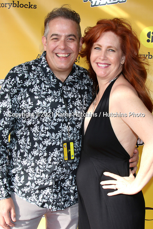 LOS ANGELES - APR 10:  Ralph D'Amato and Kara D'Amato at the Award This! 2021 LIVE Drive-In Awards  at the Mess Hall on April 10, 2021 in Tustin, CA