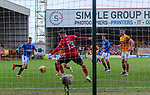17.01.2021 Motherwell v Rangers: Cedric Itten scores for Rangers