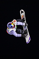 9th January 2021; Kreischberg, Murau, Austria. FIS World Cup Womens Snowboarding Big Air; Anna Gasser of Austria during the final of womens Snowboard Big Air Competition