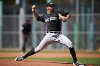 Colorado Rockies pitcher Reid Humphreys (35) during an Instructional League game against the San Francisco Giants on October 8, 2016 at the Giants Baseball Complex in Scottsdale, Arizona.  (Mike Janes/Four Seam Images)