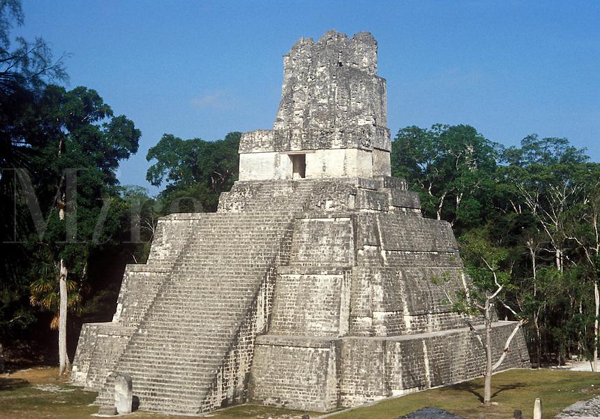 Mayan Ruin at Tikal in Guatemala