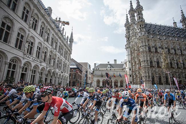 Start at Leuven 'Grote Markt'<br /> <br /> 51th GP Jef 'Poeske' Scherens 2017 <br /> Leuven - Leuven (13local laps/153.7km)