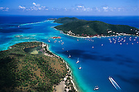 Gorda Sound into Eustatia Sound aerial<br /> Showing Virgin Gorda on the right and <br /> Prickly Pear Island on the left<br /> British Virgin Islands