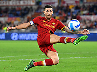 Calcio, Serie A: AS Roma vs SSC Napoli, Olympic stadium, October 24, 2021.<br /> Roma's captain Lorenzo Pellegrini in action during the Italian Serie A football match between Roma and Napoli at Rome's Olympic stadium, on , October 24, 2021. <br /> UPDATE IMAGES PRESS/Isabella Bonotto