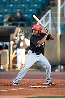 Chattanooga Lookouts left fielder LaMonte Wade (7) at bat during a game against the Jackson Generals on April 27, 2017 at The Ballpark at Jackson in Jackson, Tennessee.  Chattanooga defeated Jackson 5-4.  (Mike Janes/Four Seam Images)