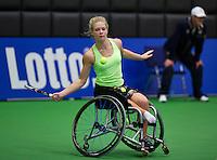 December 16, 2014, Rotterdam, Topsport Centrum, Lotto NK Tennis, Diede de Groot (NED)<br /> Photo: Tennisimages/Henk Koster