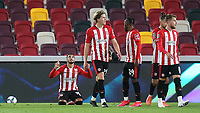 Said Benrahma celebrates scoring Brentford's second goal during Brentford vs Fulham, Caraboa Cup Football at the Brentford Community Stadium on 1st October 2020
